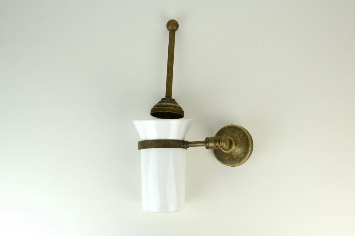 Scopino Bagno Da Muro : Portascopino per wc fissaggio a muro ottone serie liscia arredo