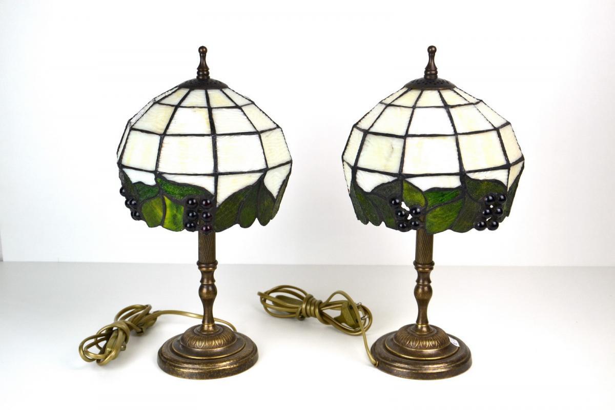 Coppia lampade ottone tiffany lampade ministeriali lettura