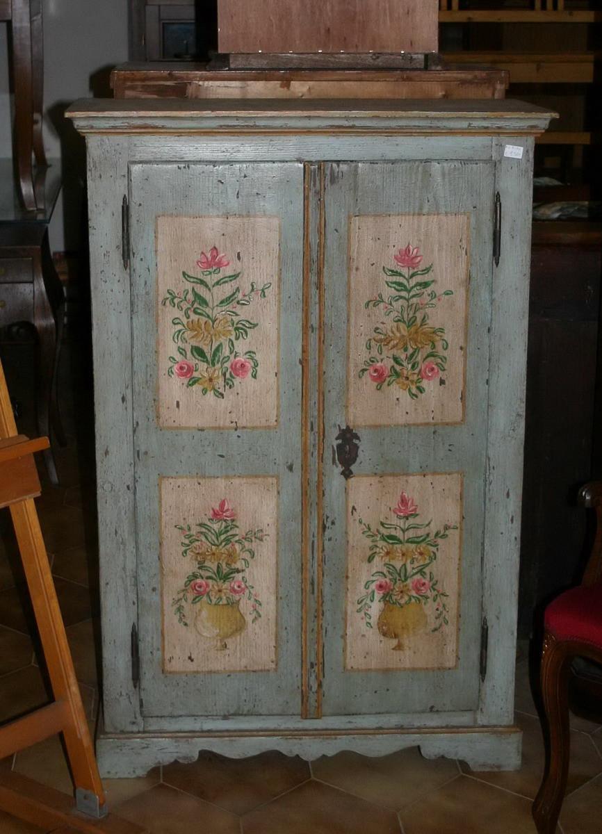 Mobile in abete dipinto mobili oggetti vecchi e antichi for Regalo mobili vecchi
