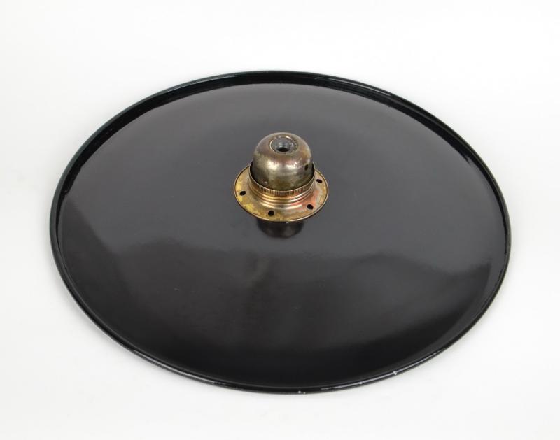 Piatto luce ferro, riflettore smaltato 35 cm, Piatti - Vetri, Illuminazione, ...
