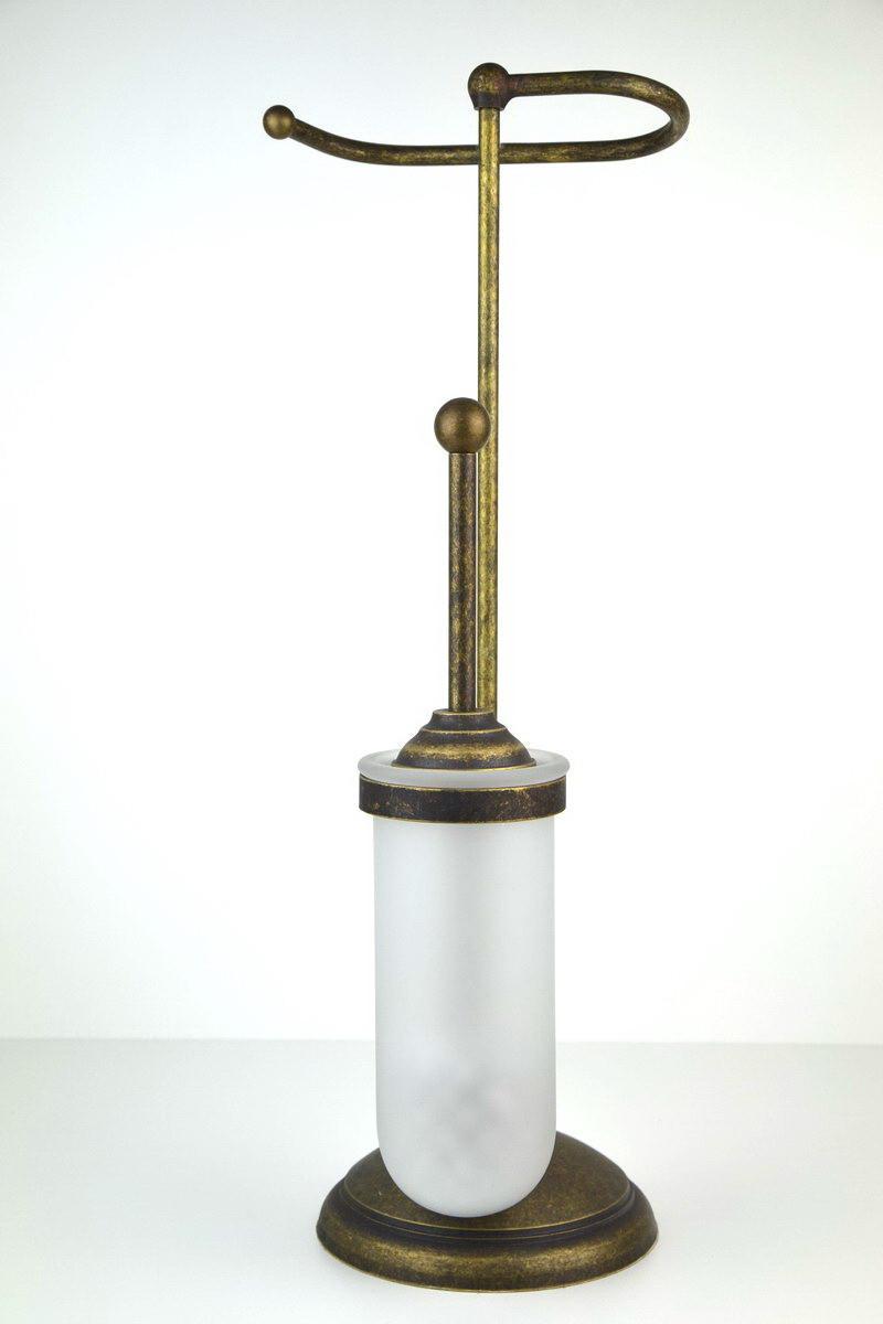 Portascopino per wc con portarotolo ottone serie liscia - Oggetti per il bagno ...